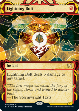 Lightning Bolt - Foil Etched