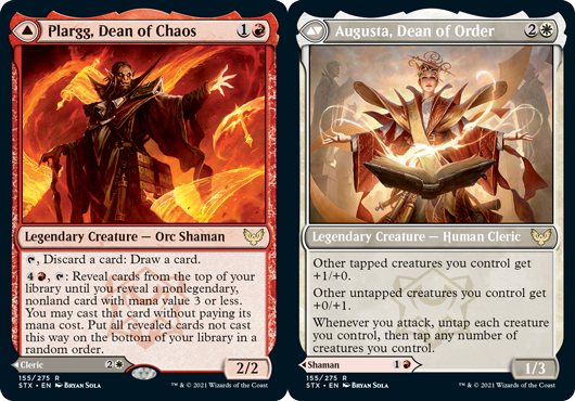 Plargg, Dean of Chaos // Augusta, Dean of Order
