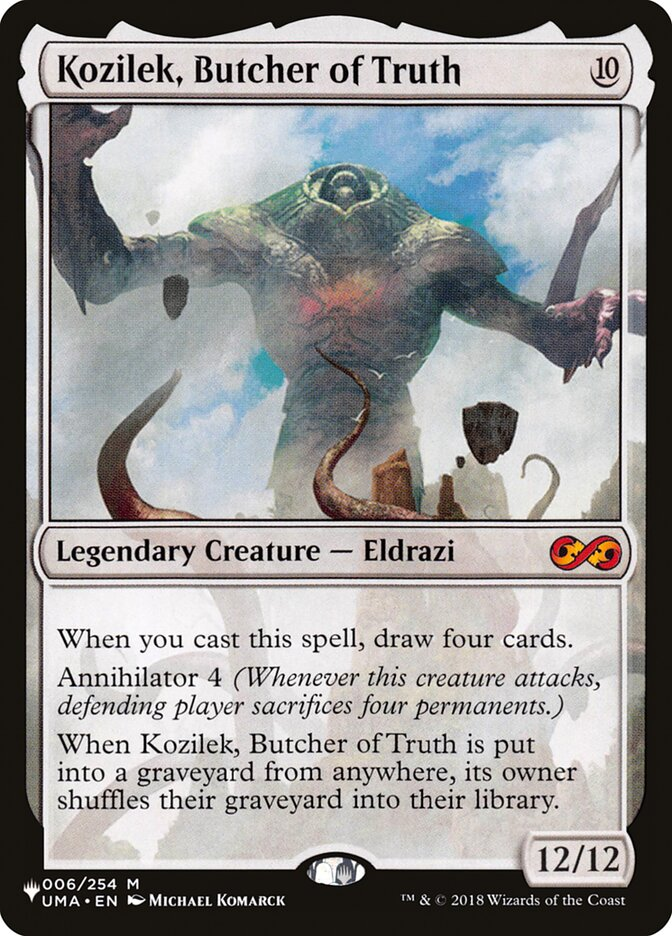 Kozilek, Butcher of Truth - The List
