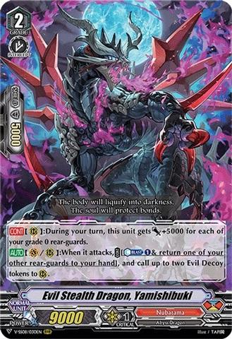 Evil Stealth Dragon, Yamishibuki - V-SS08/030EN - RRR