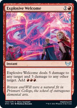 Explosive Welcome