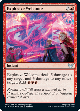 Explosive Welcome - Foil