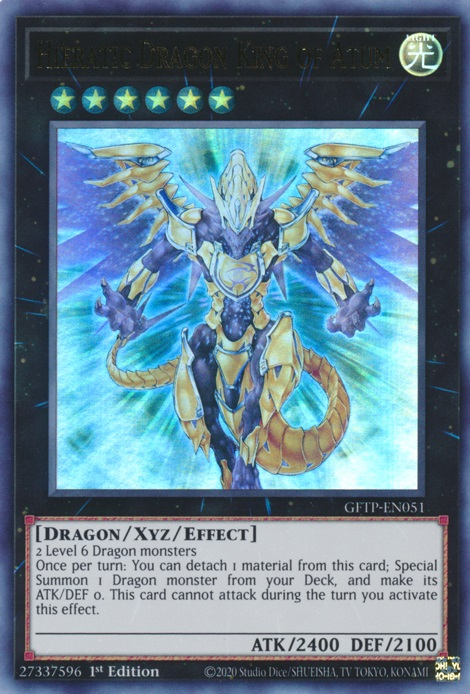 Hieratic Dragon King of Atum - GFTP-EN051 - Ultra Rare - 1st Edition