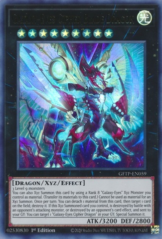 Galaxy-Eyes Cipher Blade Dragon - GFTP-EN059 - Ultra Rare - 1st Edition
