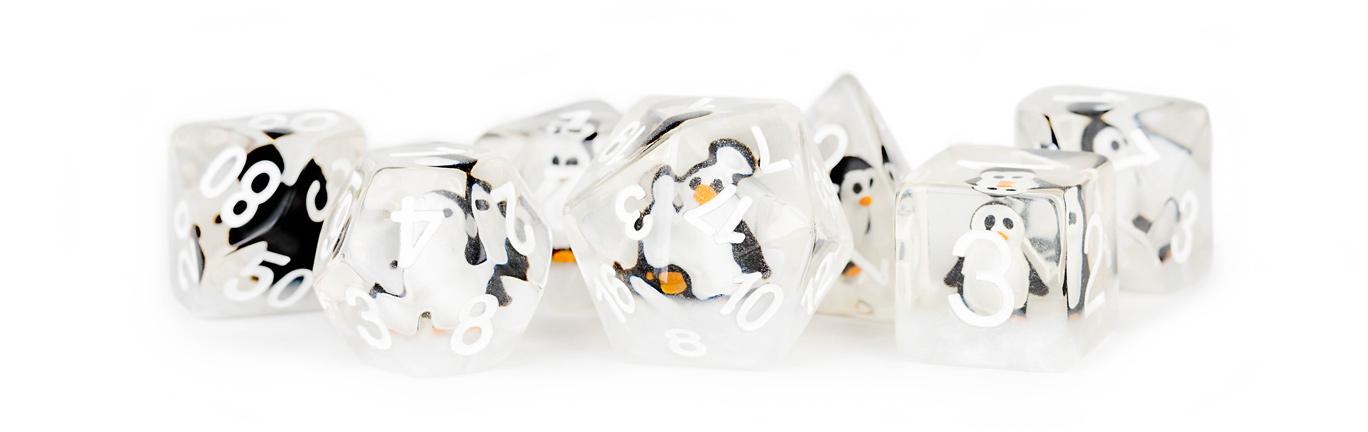 7-Die Set 16mm Resin: Penguin Dice