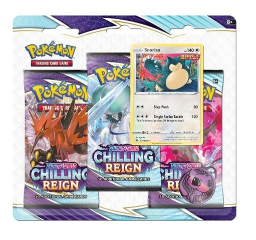 Sword & Shield: Chilling Reign 3-Pack Blister - Snorlax