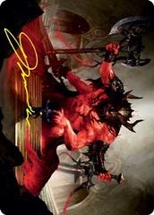 Awaken the Blood Avatar Art Card - Gold-Stamped Signature