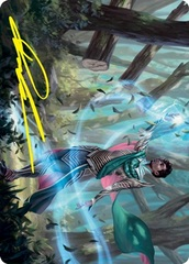 Dragonsguard Elite A Art Card - Gold-Stamped Signature