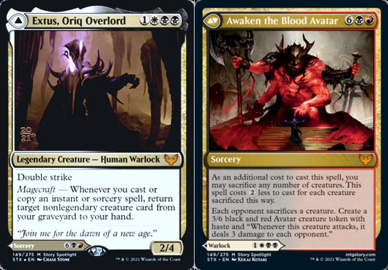 Extus, Oriq Overlord // Awaken the Blood Avatar - Foil - Prerelease Promo