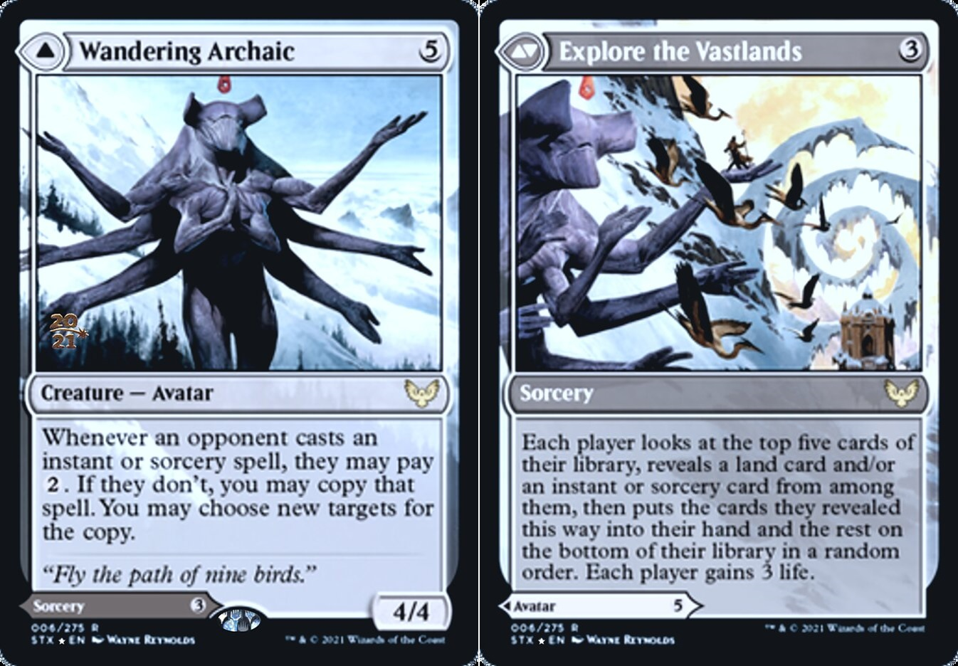 Wandering Archaic // Explore the Vastlands - Foil - Prerelease Promo