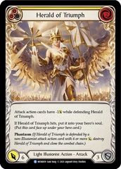 Herald of Triumph (Yellow) - Rainbow Foil - 1st Edition
