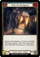 Rally the Rearguard (Blue) - Rainbow Foil - 1st Edition