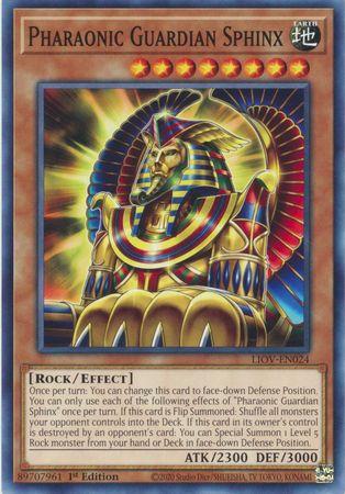 Pharaonic Guardian Sphinx - LIOV-EN024 - Common - 1st Edition