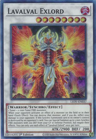 Lavalval Exlord - LIOV-EN037 - Super Rare - 1st Edition