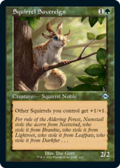 Squirrel Sovereign - Foil - Retro Frame