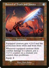 Sword of Truth and Justice - Foil - Retro Frame