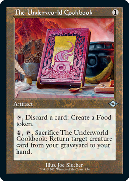 The Underworld Cookbook (Retro Frame) - Foil