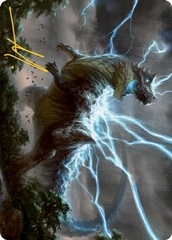 Thrasta, Tempests Roar A Art Card - Gold-Stamped Signature