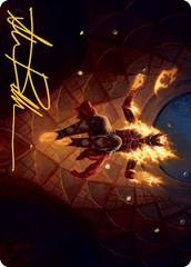 Yusri, Fortune's Flame Art Card - Gold-Stamped Signature