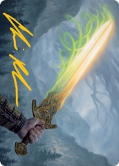 Sword of Hearth and Home Art Card - Gold-Stamped Signature