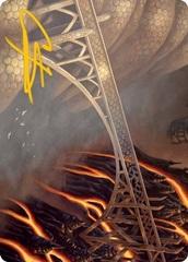 Rustvale Bridge Art Card - Gold-Stamped Signature