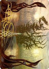 Thornglint Bridge Art Card - Gold-Stamped Signature