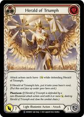 Herald of Triumph (Red) - Rainbow Foil - Unlimited Edition