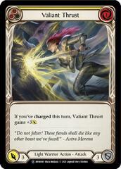 Valiant Thrust (Yellow) - Rainbow Foil - Unlimited Edition
