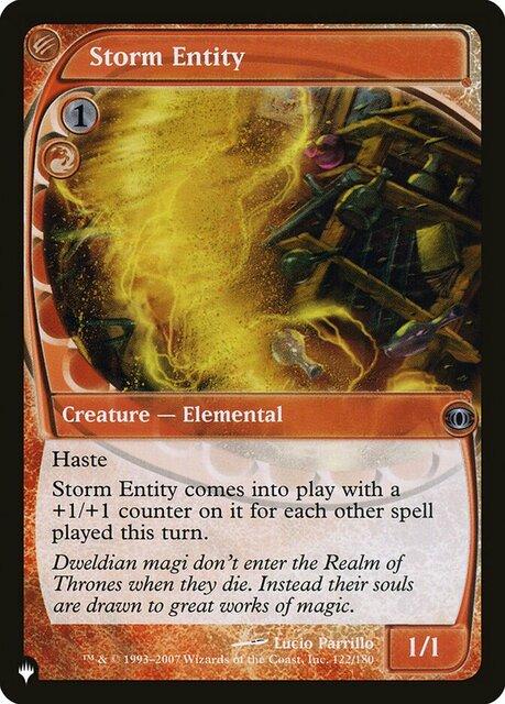 Storm Entity - The List