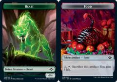 Beast Token // Food Token (018) - Foil