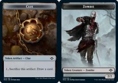 Clue Token (014) // Zombie Token - Foil