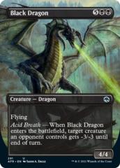 Black Dragon - Borderless