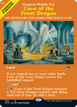 Cave of the Frost Dragon - Foil - Dungeon Module