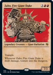 Zalto, Fire Giant Duke - Foil - Showcase