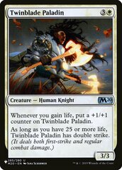 Twinblade Paladin - The List