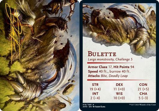 Bulette Art Card -  Gold-Stamped Signature