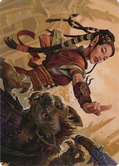 Half-Elf Monk Art Card