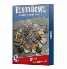 Blood Bowl - Ogre Pitch Double-sided Pitch and Dugouts