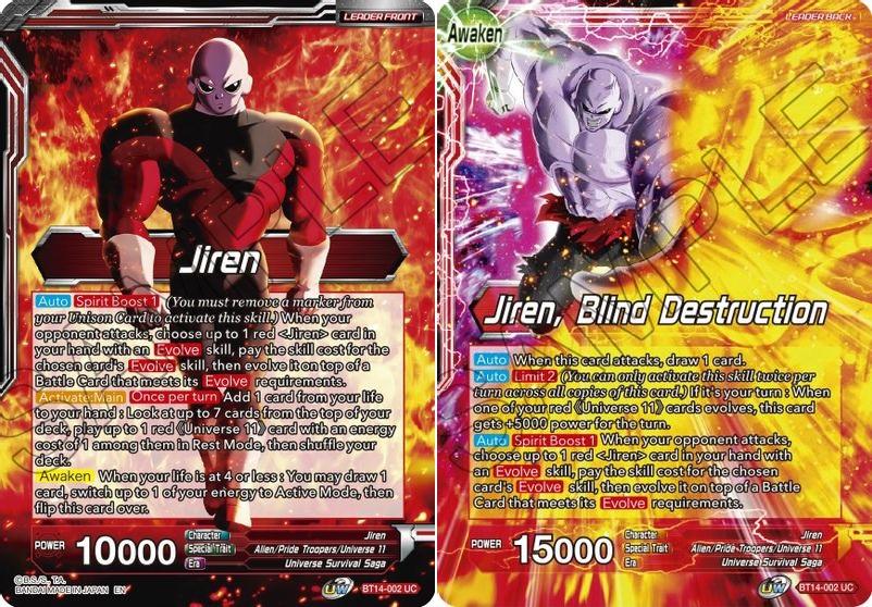 Jiren // Jiren, Blind Destruction - BT14-002 - UC - Foil