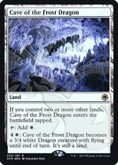 Cave of the Frost Dragon - Foil - Ampersand Promo