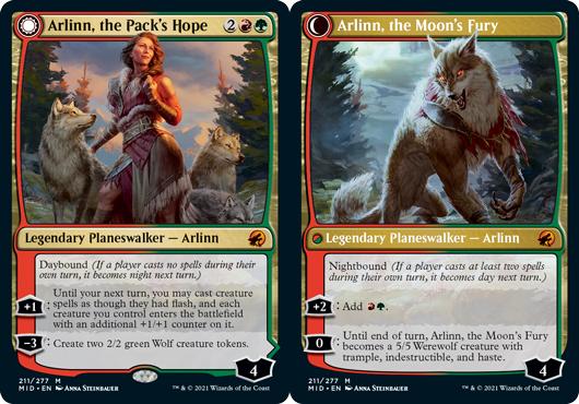 Arlinn, the Packs Hope // Arlinn, the Moons Fury - Foil