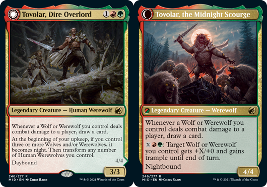 Tovolar, Dire Overlord // Tovolar, the Midnight Scourge - Foil