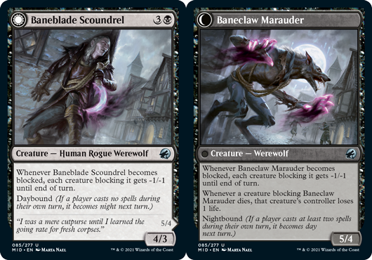 Baneblade Scoundrel // Baneclaw Marauder - Foil