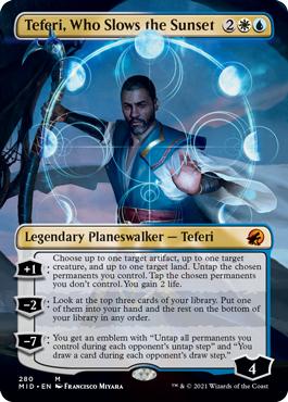 Teferi, Who Slows the Sunset - Foil - Borderless