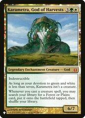 Karametra, God of Harvests - The List
