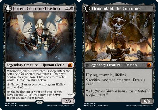 Jerren, Corrupted Bishop // Ormendahl, the Corrupter
