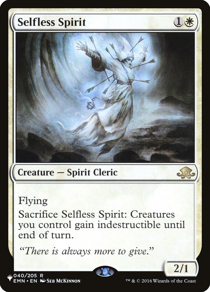 Selfless Spirit - The List