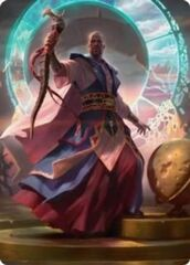 Teferi, Who Slows the Sunset Art Card