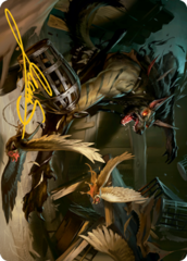 Wing Shredder Art Card - Gold-Stamped Signature