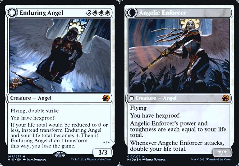 Enduring Angel // Angelic Enforcer - Foil - Prerelease Promo